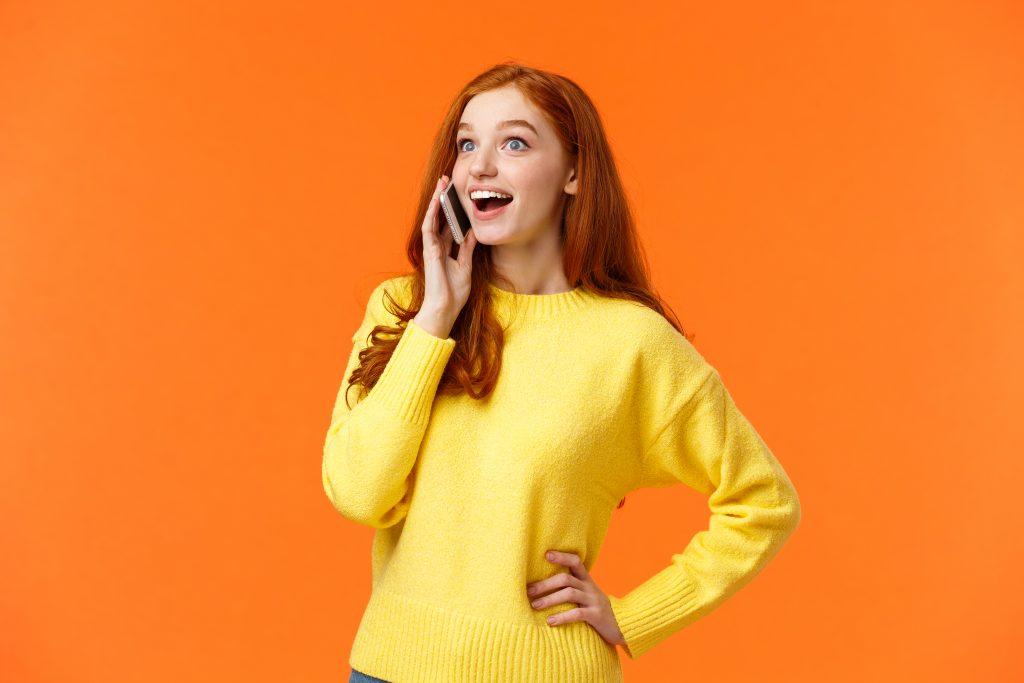 Nụ cười khi giao tiếp điện thoại