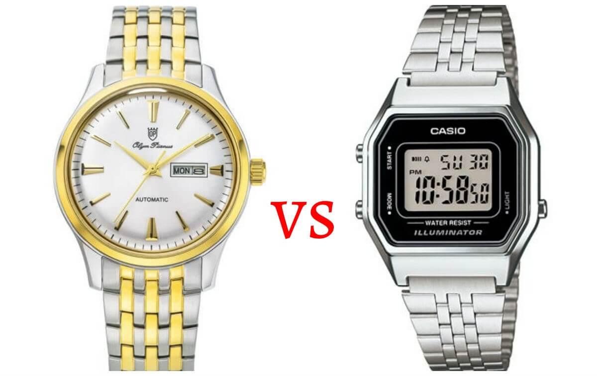 chọn đồng hồ điện tử hay đồng hồ cơ
